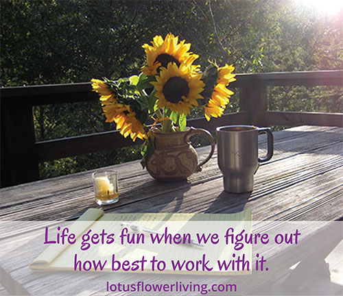 Life Gets Fun when we figure out how to best work with it - Lotus Flower Living